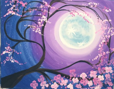 Cherry Blossom Tree Painting Step By Step Painting For