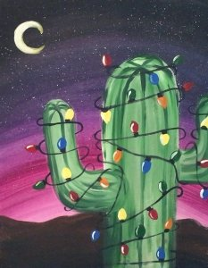 How To Paint A Christmas Tree Cactus