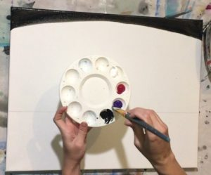 Cityscape Fireworks Step By Step Painting - Tracie's ...
