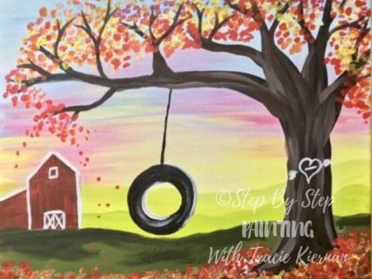 Fall Canvas Paintings Archives Step By Step Painting With Tracie Kiernan