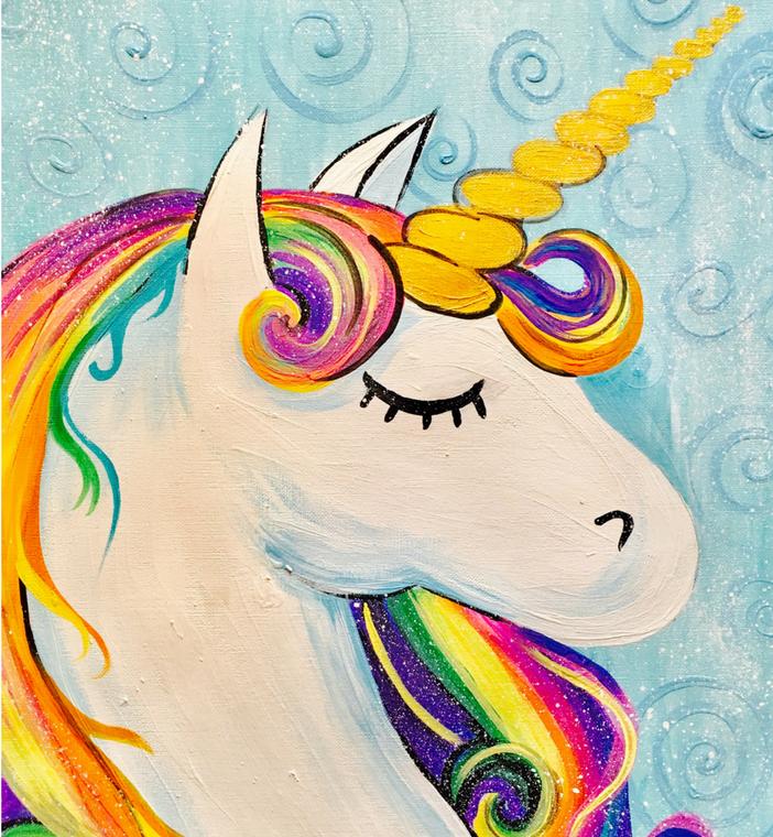 Unicorn With Rainbow Hair Painting