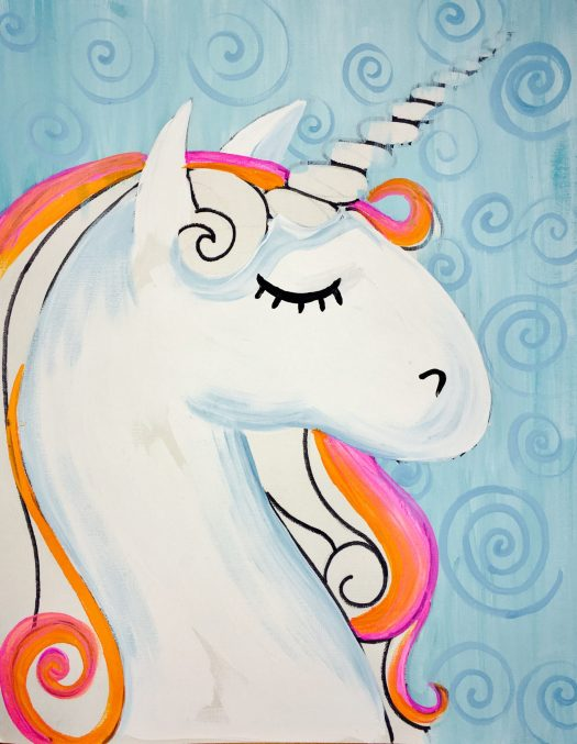How To Paint A Rainbow Unicorn - Easy Step By Step Painting