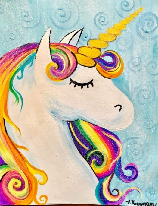 Easy Painting On Canvas For Kids Unicorn