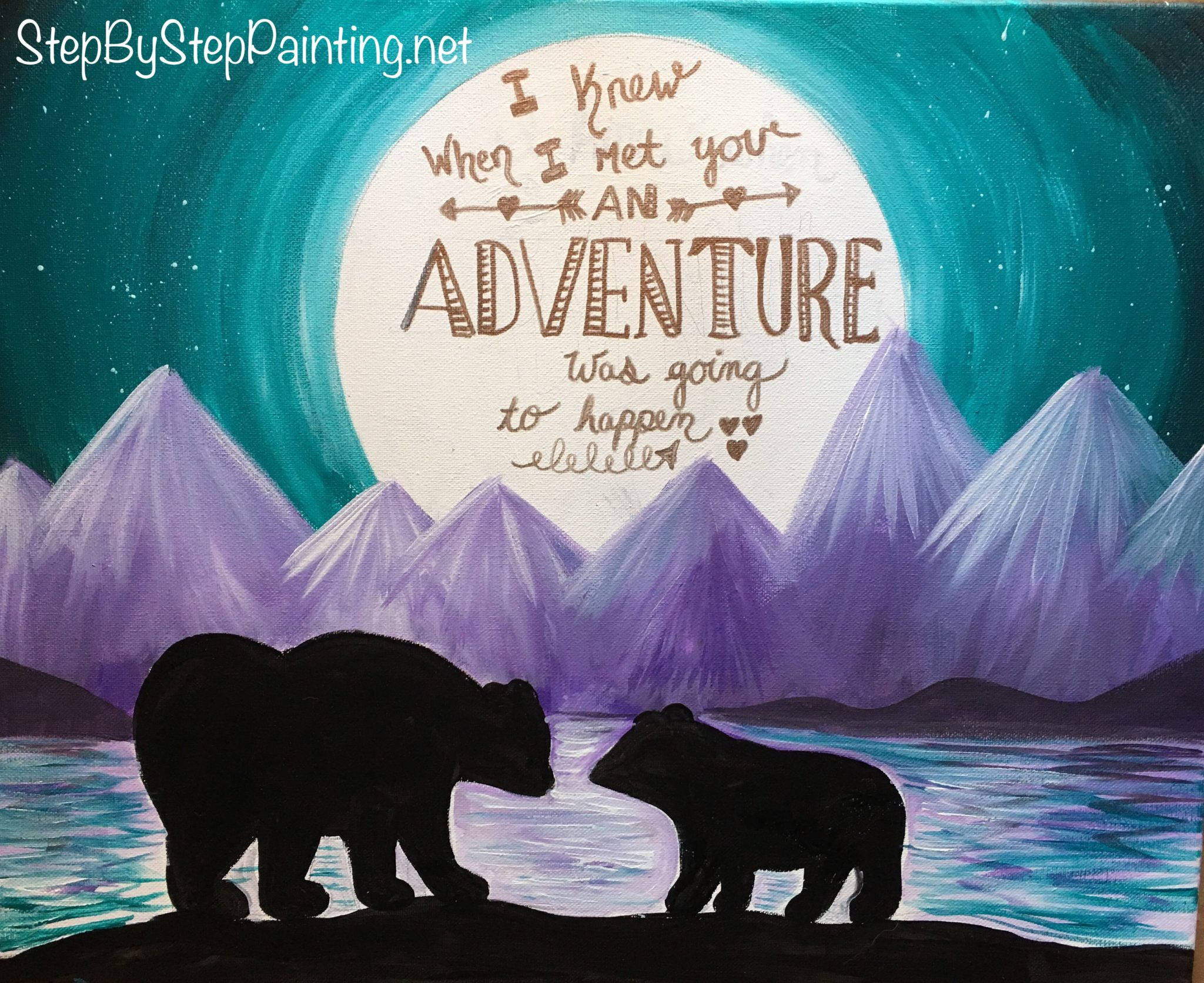Step By Step Painting - Tracie's Acrylic Canvas Tutorials - photo#10