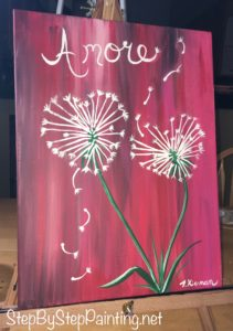 Valentines Day Step By Step Painting - Tracie's Acrylic ...