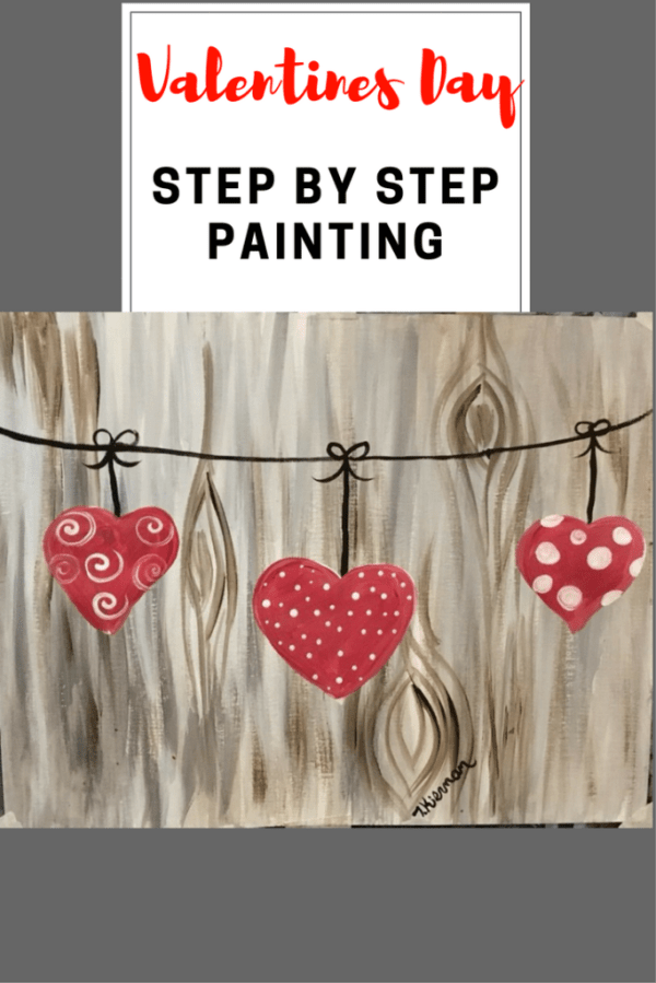 How To Paint Hearts on A String - Tracie's Acrylic Canvas ...
