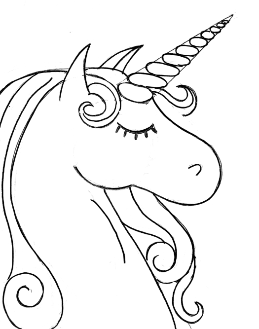 Drawing Lines In Jcanvas : How to paint a rainbow unicorn easy step by painting