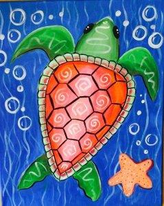 Mermaid Pineapple American Flag Sky Flamingo Beach Sea Turtle