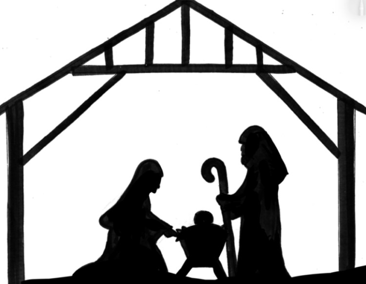 Nativity silhouette