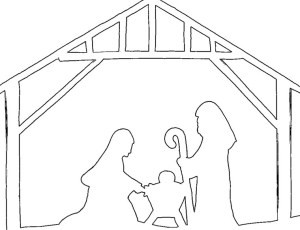 Nativity silhouette outline