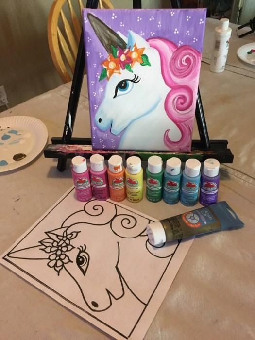 unicorn paint party
