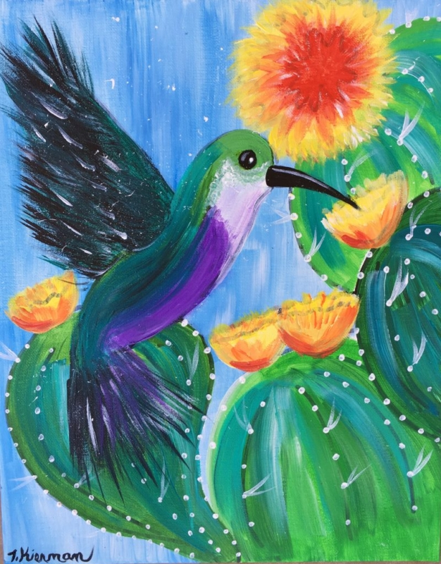 How To Paint A Hummingbird