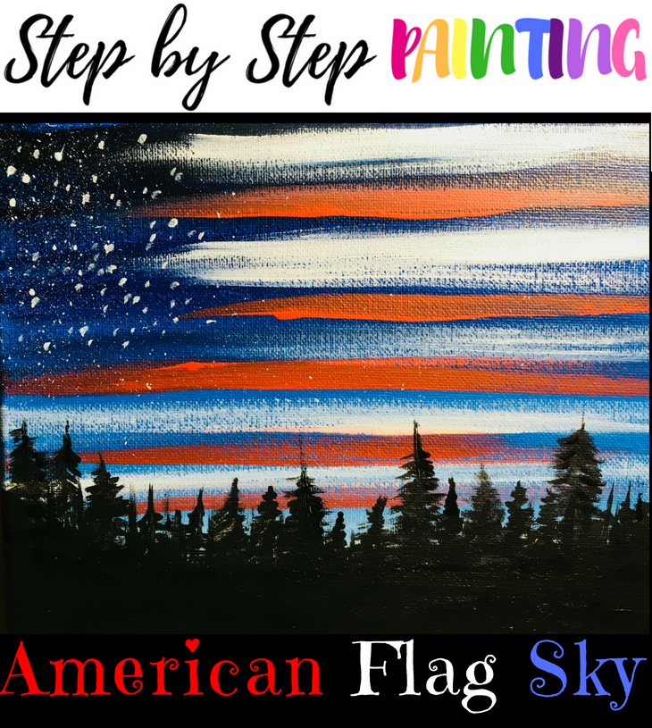 b940ebdc813c How To Paint American Flag Sky - Step By Step Painting
