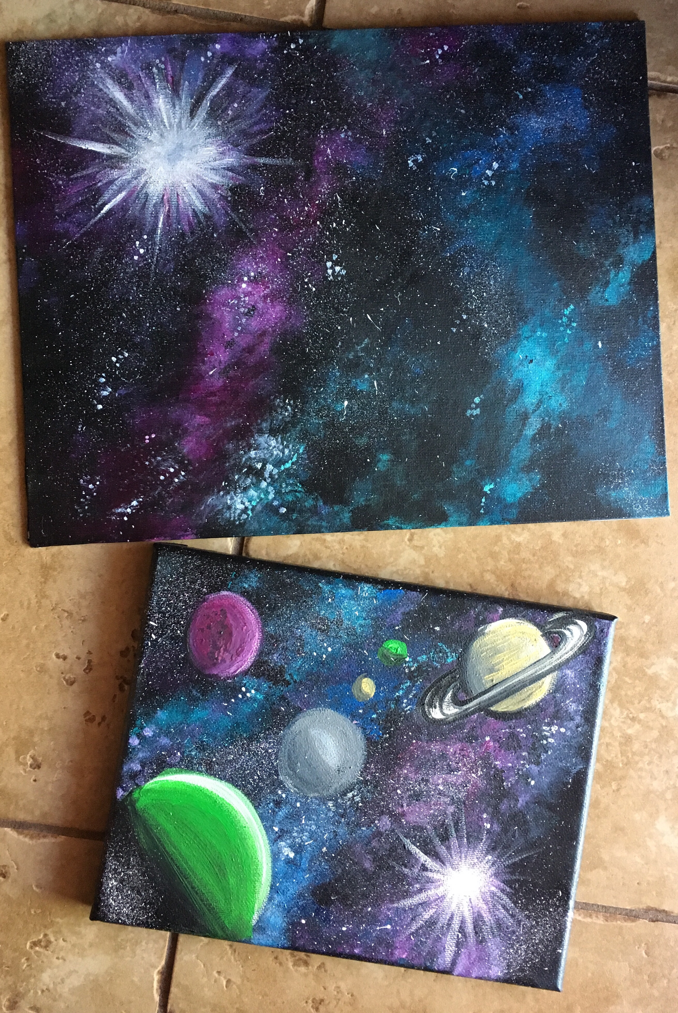 How To Paint A Galaxy - Step By Step Painting For Beginners - photo#19