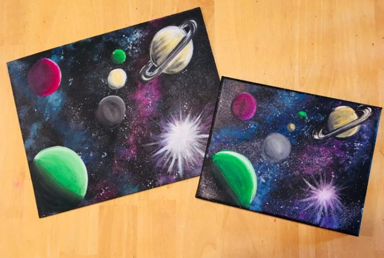 Planets painting