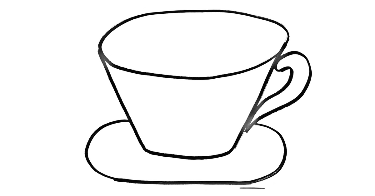 How To Draw A Coffee Cup - Step By Step Painting