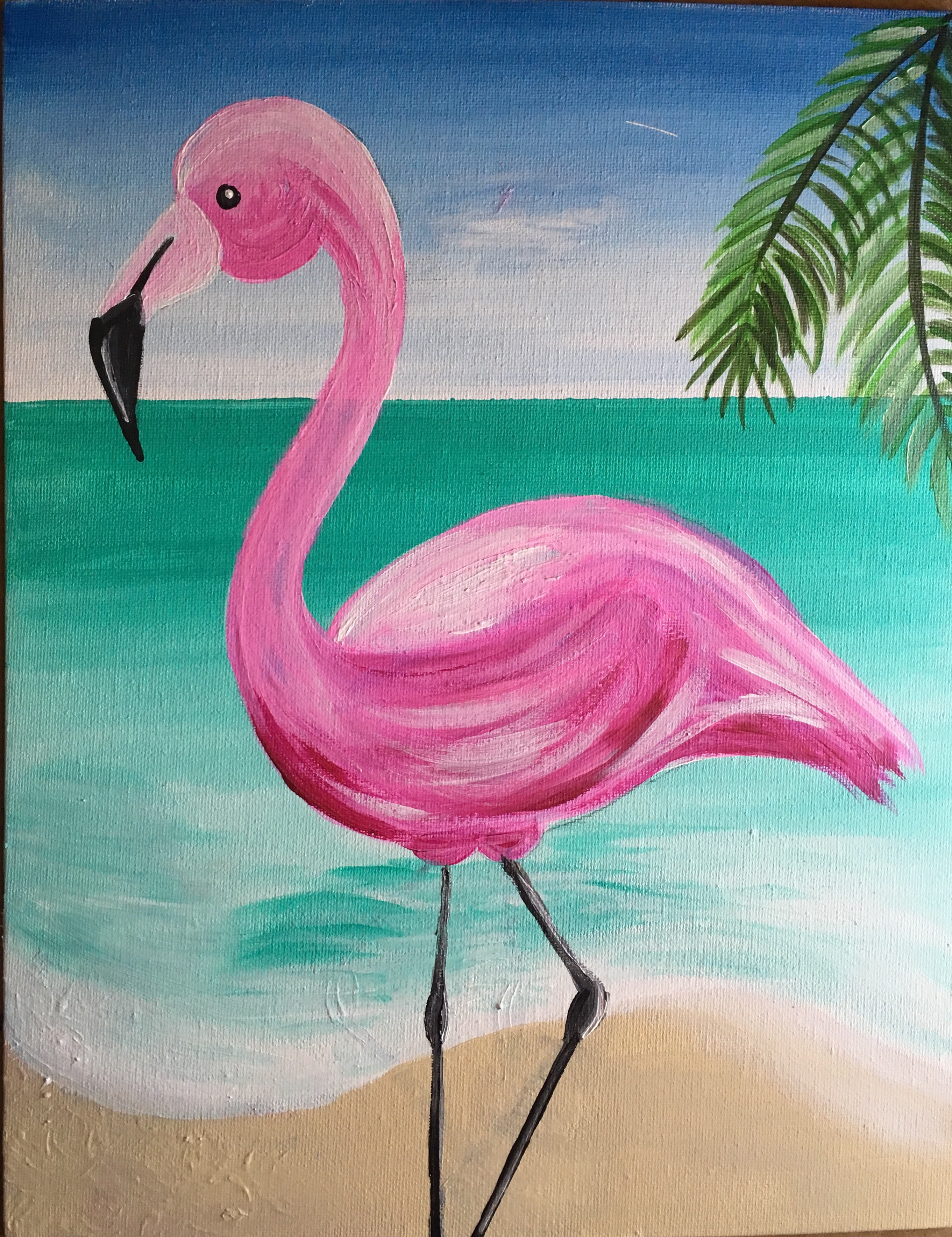 How To Paint A Flamingo - Step By Step Painting - photo#50