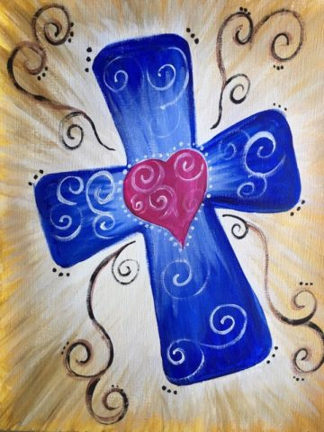How To Paint A Cross On Canvas Step By Step Painting