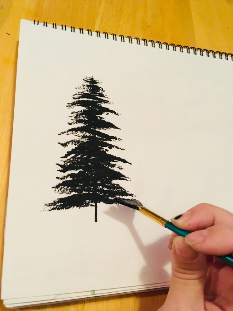 Painting Trees With A Fan Brush Step By Step Acrylic Painting