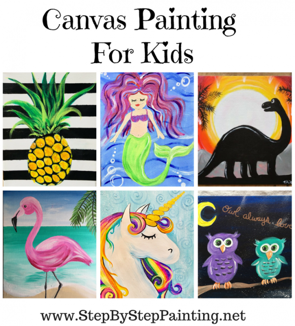 Painting For Kids , Step By Step Canvas Painting , Online
