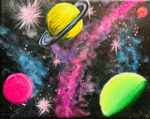 Galaxy Painting Step By Step Acrylic Painting Tutorial