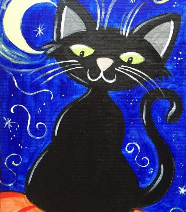 How To Paint An Easy Halloween Cat - Great For Kids!