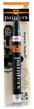 Elmer's Painters Opaque Paint Marker, Medium Point, Black, 1 Count