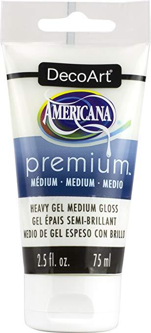 DecoArt Gel Americana Premium Acrylic Medium Paint Tube 2.5oz