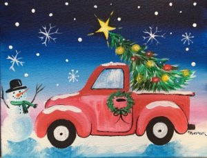 Easy Christmas Paintings Step By Step Painting With Tracie Kiernan