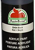 Apple Barrel (J20404) Acrylic Paint in Assorted Colors (8 Ounce), 20404 Black