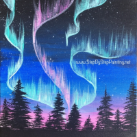 How to Paint The Northern Lights An Easy Technique