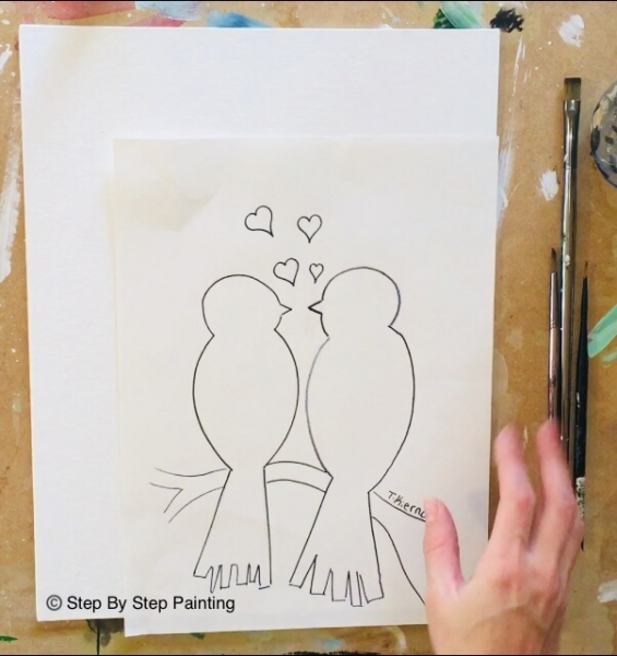 How To Paint Love Birds On Branch Step By Step Painting With Tracie Kiernan