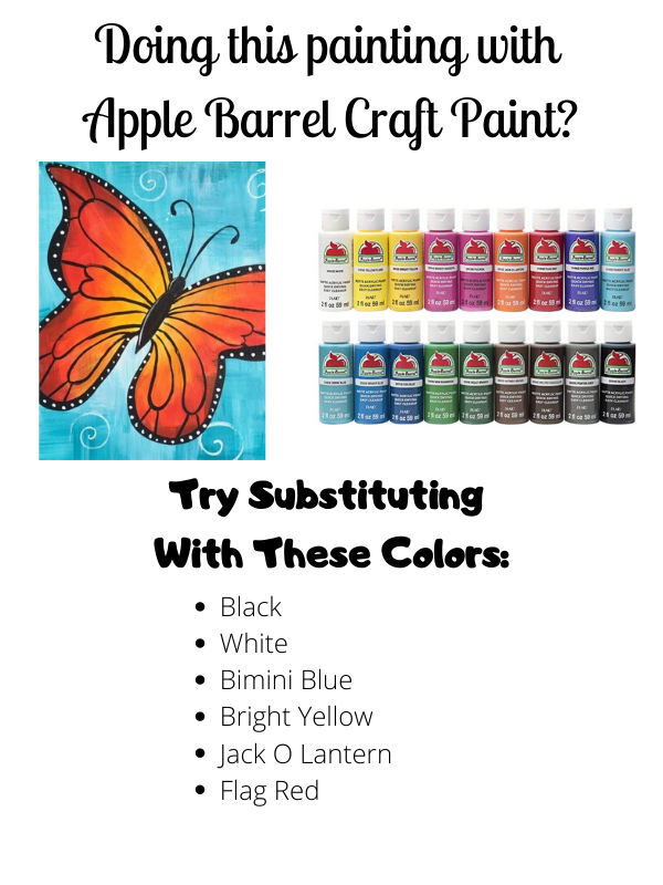 Butterfly painting with craft paints