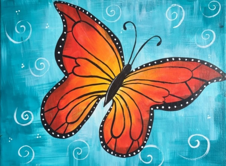 How To Paint A Butterfly Step By Step Painting