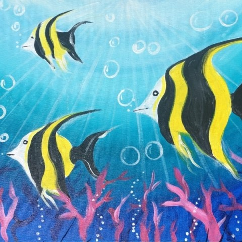 How To Paint Under The Sea Angelfish