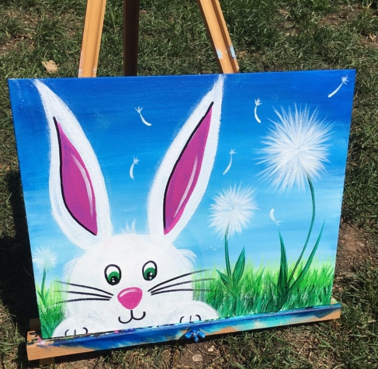 7306172b3a0dc How To Paint An Easter Bunny - Step By Step Painting
