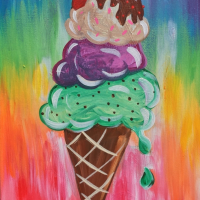 How To Paint An Ice Cream Cone
