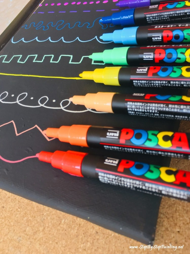 Using Posca Paint Pens On Canvas Step By Step Painting