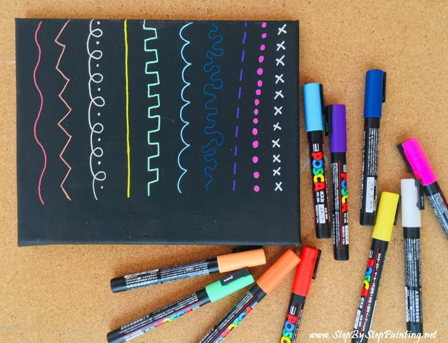 Using Paint Pens On Canvas Step By Step Painting With Tracie Kiernan