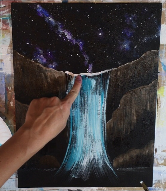 Waterfall Painting Step By Step Painting Tutorial For Beginners