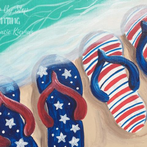Patriotic Flip-Flops Painting