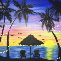 How To Paint A Tropical Sunset
