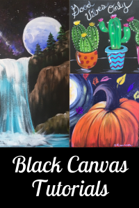 Link to how to do black canvas paintings