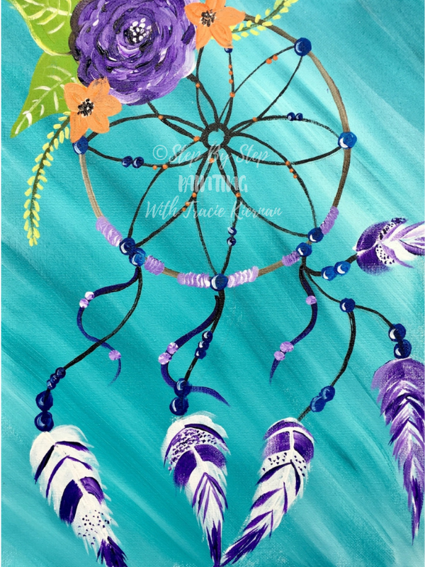How To Paint A Dream Catcher