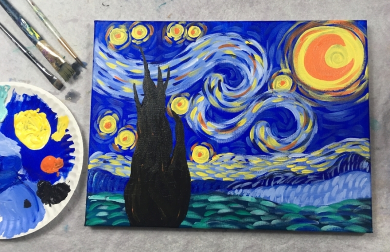 How To Paint Starry Night Step By Step Painting With Tracie Kiernan
