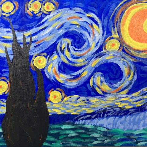 How To Paint Starry Night