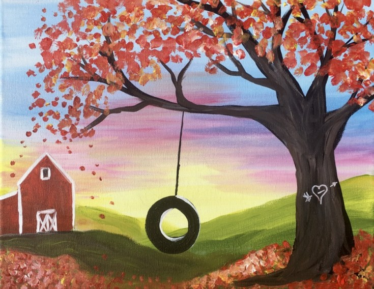 How To Paint Fall Tire Swing