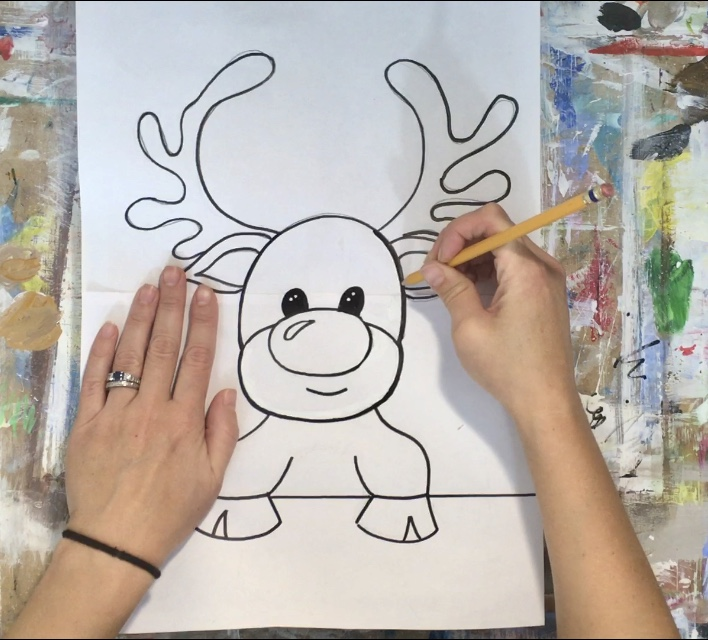 How To Paint A Cute Rudolph Step By Painting With Tracie Kiernan