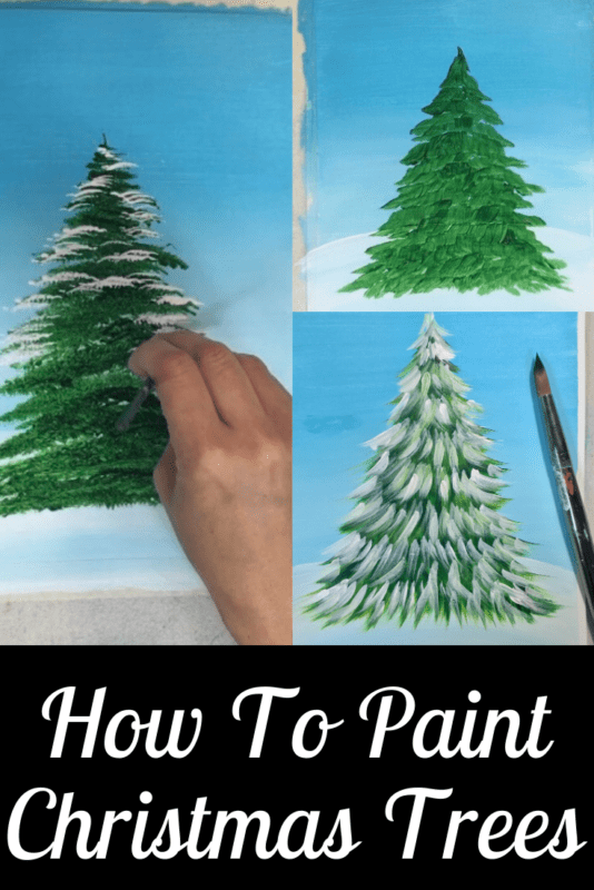 Link to how to paint Christmas Trees Techniques
