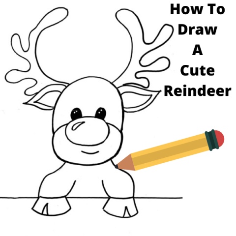 How To Draw A Reindeer Step By Step Drawing Tutorial